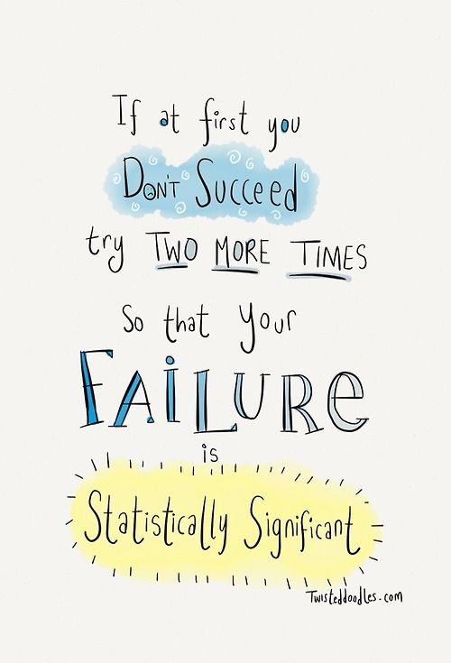 'if at first you don't succeed…' The science version!