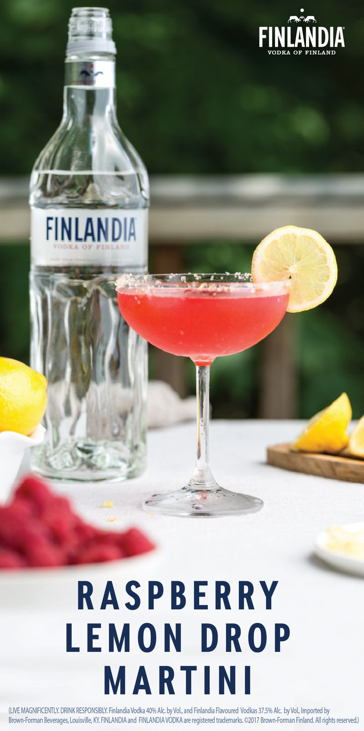 There's something about the lemon and raspberry flavor combination that hits the spot! Enjoy this tasty pair in their most delicious form—when combined with Finlandia Vodka—by making this Raspberry Lemon Drop Martini recipe for your friends. Who wouldn't love a fruity twist on their favorite classic cocktail?!