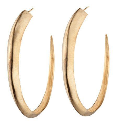 Large Hoop earrings by Natalie Frigo.