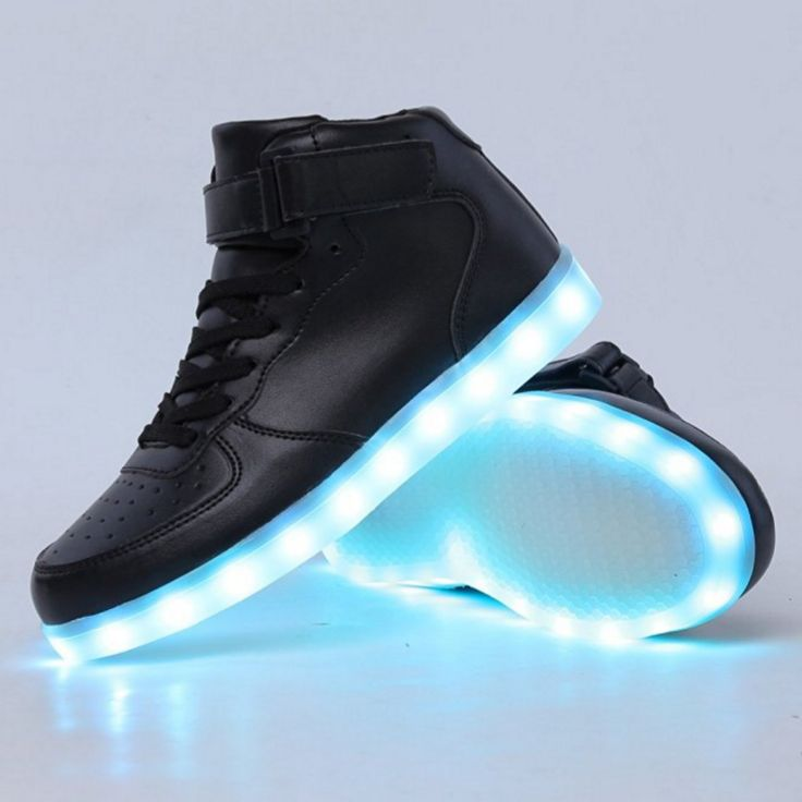 High Top LED Shoes LED Light Up Sneaker & 11 Color Light & USB Charger for Mens Womens Christmas gift