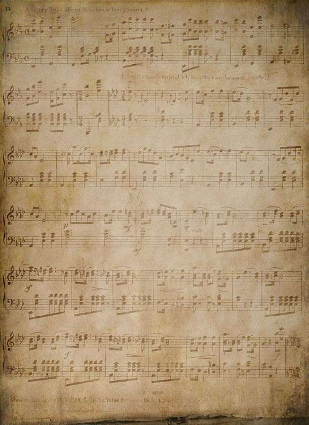 Vintage music note tiled background for websites #web #backgrounds #tiled_background