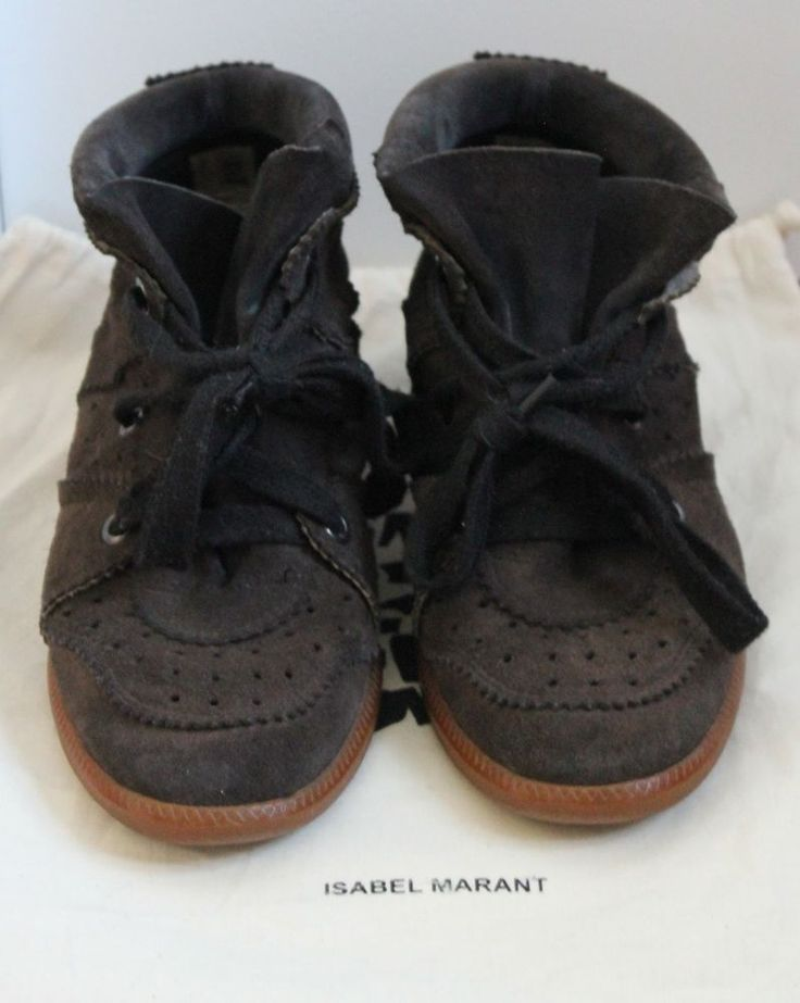 Isabel Marant Bobby Sneakers Trainers 38 Brown #IsabelMarant #FashionSneakers