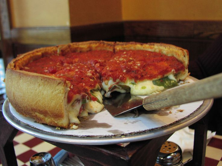 Giordano's Chicago Deep Dish pizza. Everyone has to try this pizza when they visit Chicago.