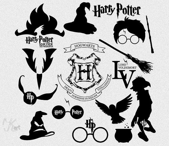 Harry potter silhouettes this item is an instant download - Harry potter images download ...