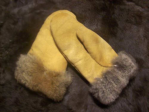 """Buckskin mitten pattern – """"Urban Abo"""" – Buckskin not only will make fine jackets, shirts, breeches, or bags...but, other clothing items as well such as gloves or mittens.   We will..."""