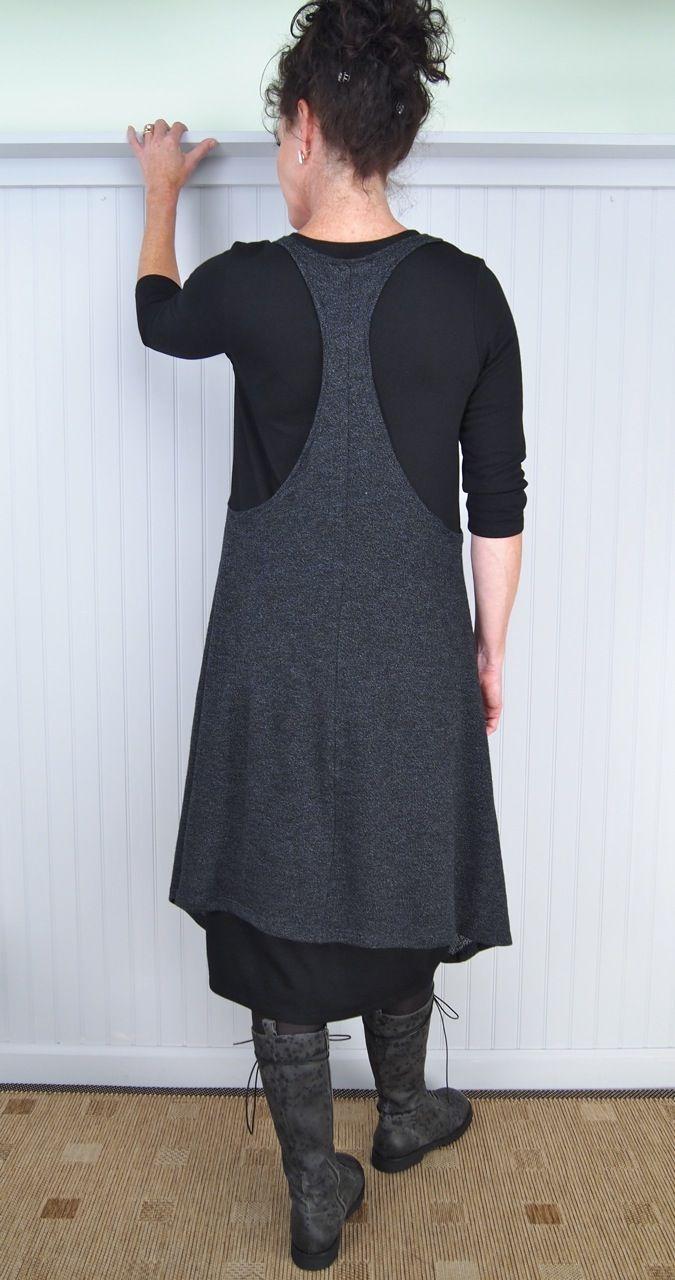 Alembika Cool Layering Tunic and Judy Kisim Dress with Rundholz Black Label Triumph Tall Boot