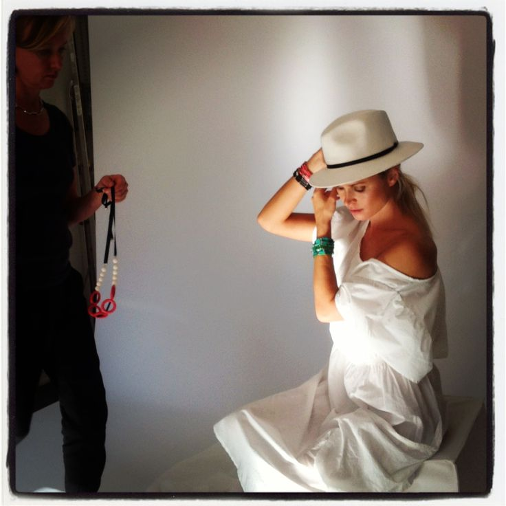 Day of the photoshoot. Spring 2014 jewellery collection by Aarikka.