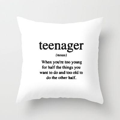 Teenager. Throw Pillow by S J A E $20.00 #bestseller