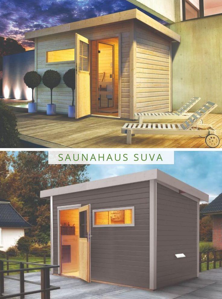 saunahaus suva eine sauna f r den garten sauna kaufen. Black Bedroom Furniture Sets. Home Design Ideas