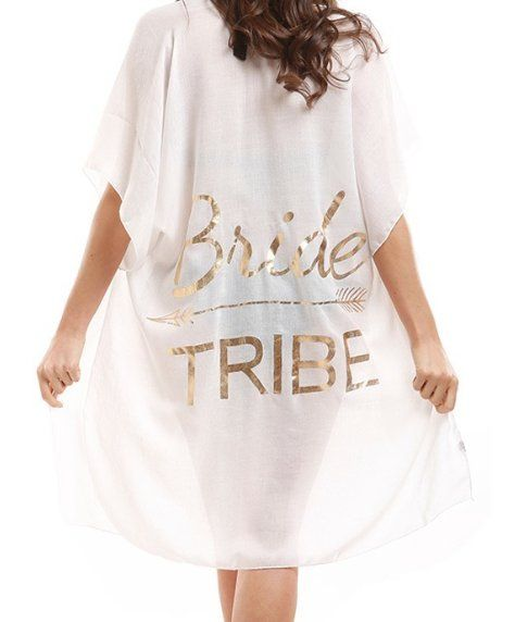 0a04c43def $33+Bride+Tribe+Open+Front+Cardigan+Beach+Cover-Up | WHITE - COLOR ...