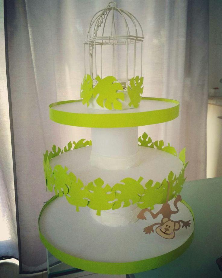 Βάση για cupcakes για πάρτι με θέμα μαϊμουδάκια 🙊🙉🙈🐵🐒🌴🍌 (monkeys and bananas birthday party ideas - stand for cupcakes)