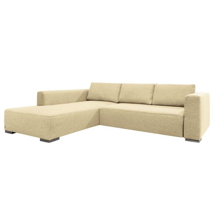 New Ecksofa Heaven Colors Style XL Webstoff Longchair Ottomane davorstehend links Ohne Schlaffunktion