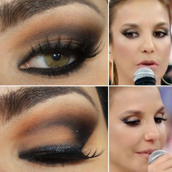 Tutorial - A maquiagem cat eyes com brilho de Ivete SangaloPausa para Feminices