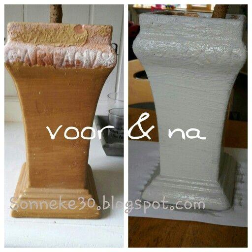 bewerkt met cement verf