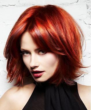 Red Hairstyles Sensationally Copper Retro Peach Curls