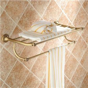 Create Photo Gallery For Website European Vintage Bathroom Accessories Antique Brass Towel Rack Towel Bar