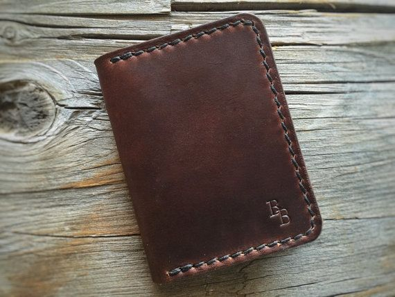 Seagull bi-fold brown Chromexcel wallet от BenjaminBottDesign
