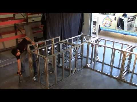Build Outdoor Kitchen Frame in Under 5 minutes (Amazing) - YouTube