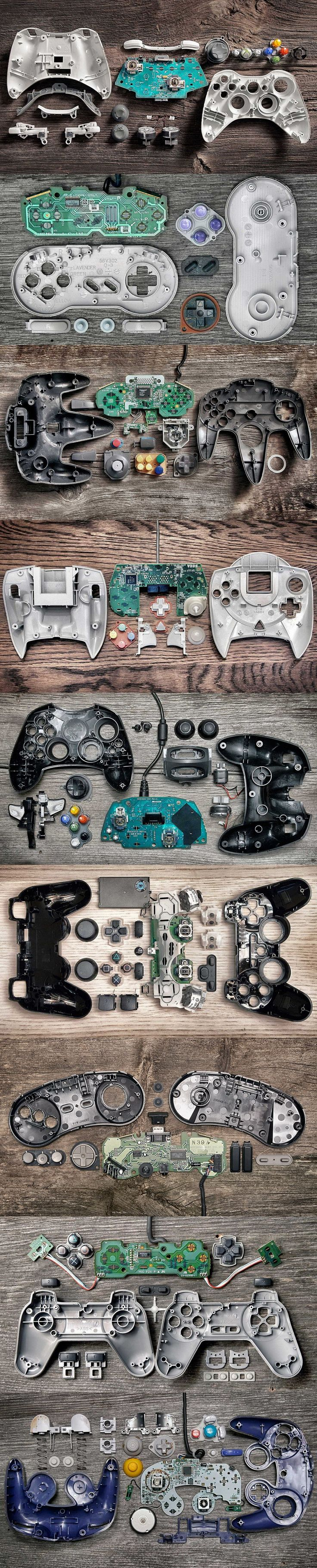 Anatomy Of Controllers By Brandon Allen Could make this and put a glass top on the table in a bar to make a cool table...