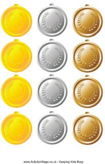 free printable metals, olympic crafts