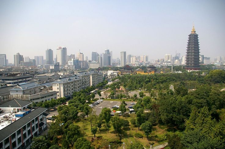 China - Changzhou, view on the city and Tianning Pagoda from Wenbi Pagoda.jpg