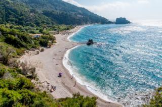 Samos, Greece. Potami Beach, the best on the island