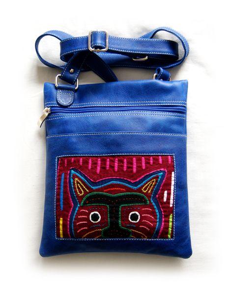 Torebka skórzana z aplikacją Mola von MOLA BAGS auf DaWanda.com