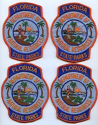 Lot of (4) Old FLORIDA STATE PARKS  Ranger Conservation Police Patches