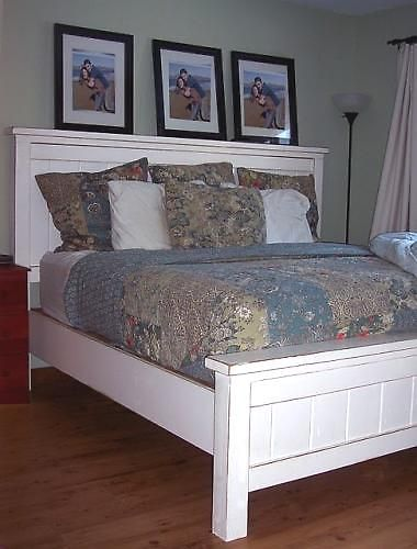 Ana White. I would love to make this for our bed. These are instructions on how to make this bed frame $120 for materials