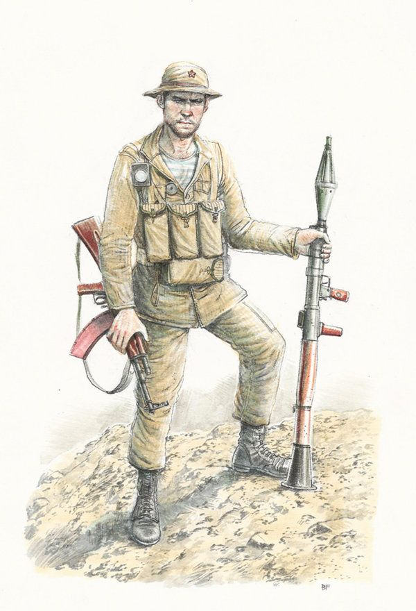 Russian soldier in Afghanistan color by JesusFood, pin by Paolo Marzioli