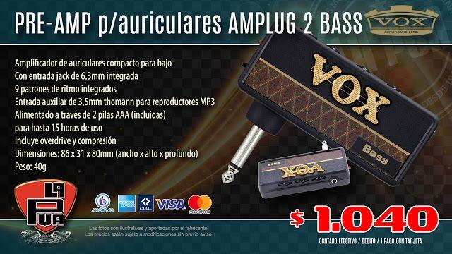 La Púa San Miguel: Pre-amp p/auriculares VOX AMPLUG 2 Bass