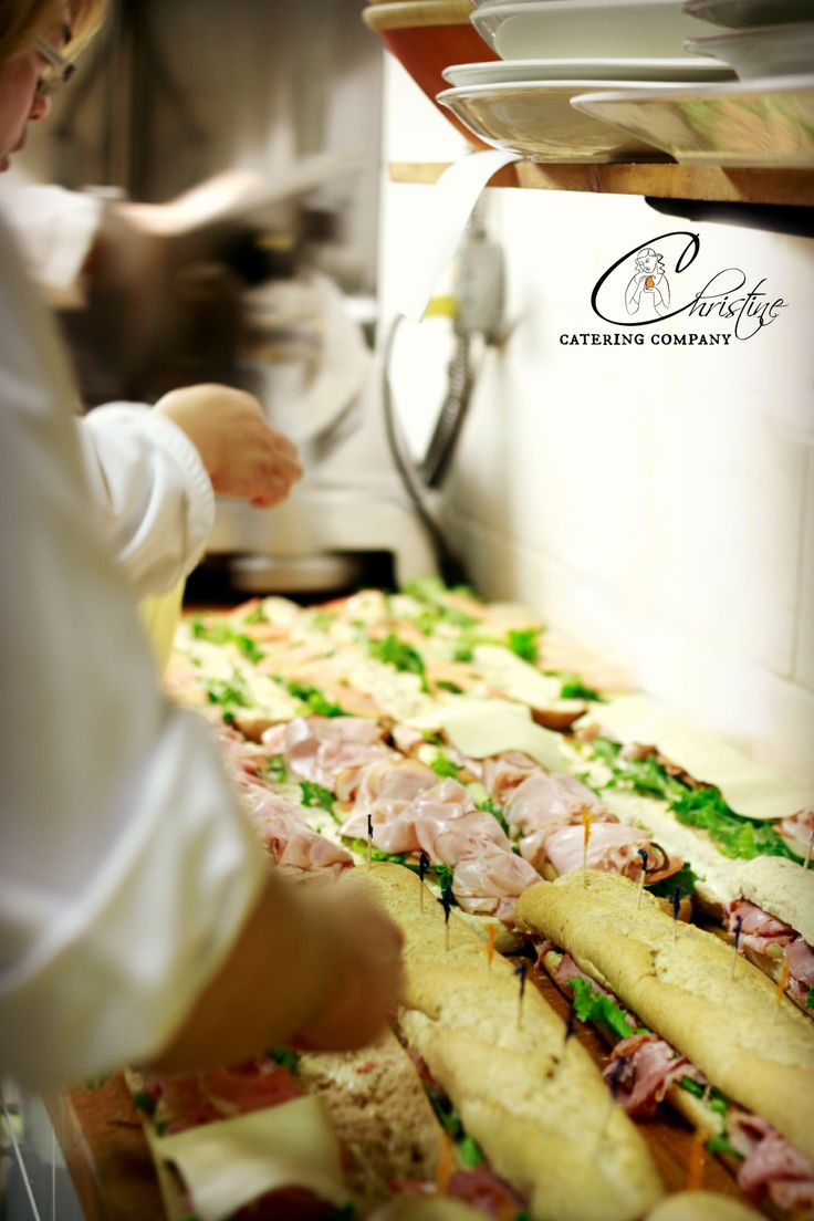 The making of 200 sandwiches for delivery in our beautiful Bags 2 Go www.christinecatering.com