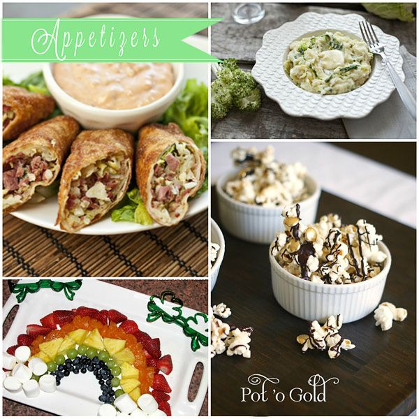 St. Patrick's Day Appetizers! Rainbow Fondue, Corned Beef & Cabbage Eggrolls and more!