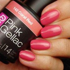Pink Gellac 142  Coral Red gellak nagellak gelnagellak roze