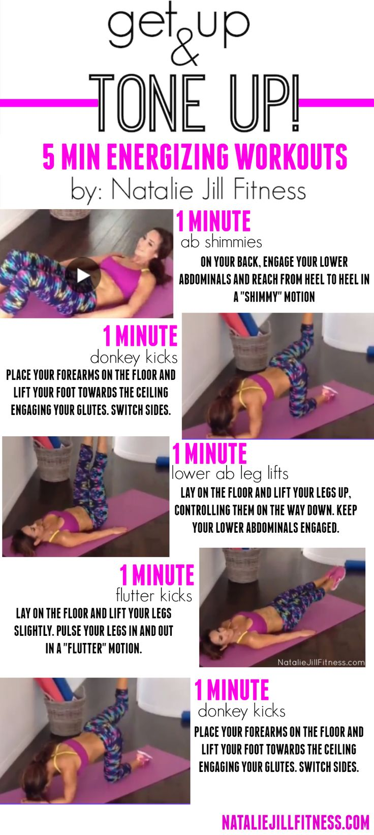 5 minute FULL BODY workout! Lower abs, booty,legs and core! You can do these body weight workouts ANYWHERE with no equipment!