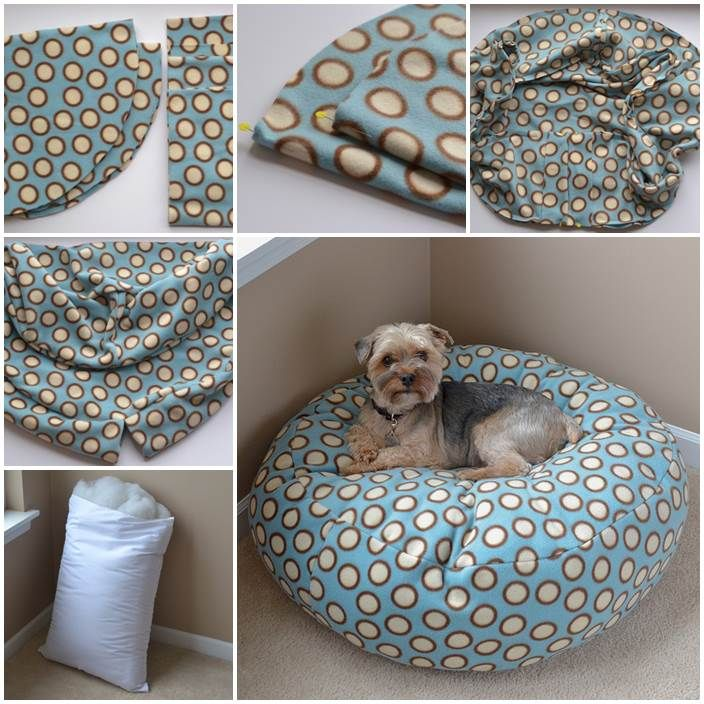 DIY Fleece Dog Bed