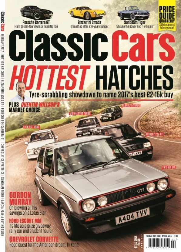 In this Issue:    Hottest hatches - tyre-scrabbling showdown to name 2017's best £2-15k buy    Gordon Murray - on blowing all his savings on a Lotus Elan    Ford Escort Mkl - its life as a prize giveaway, rally car and student hauler    Chevrolet Corvette - Road quest for the American dream. In Kent!    Porsche Carrera GT; from garden-found wreck to perfection    Bizzarrini Strada; unleashed adter a 27-year slumber    Sunbeam Tiger - misuse the power and it will spin    PLUS Quentin Wilson's…