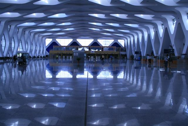 This airport is a true piece of art