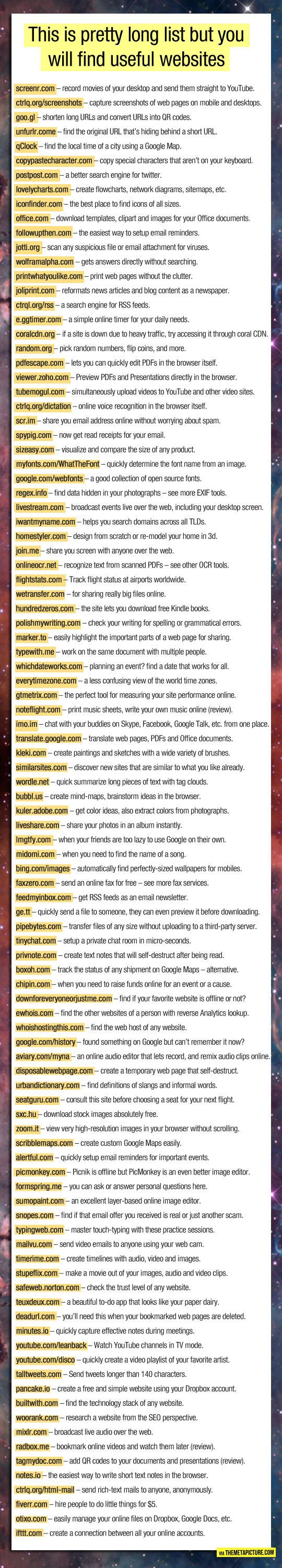 Take a Sec To Check This Awesome List