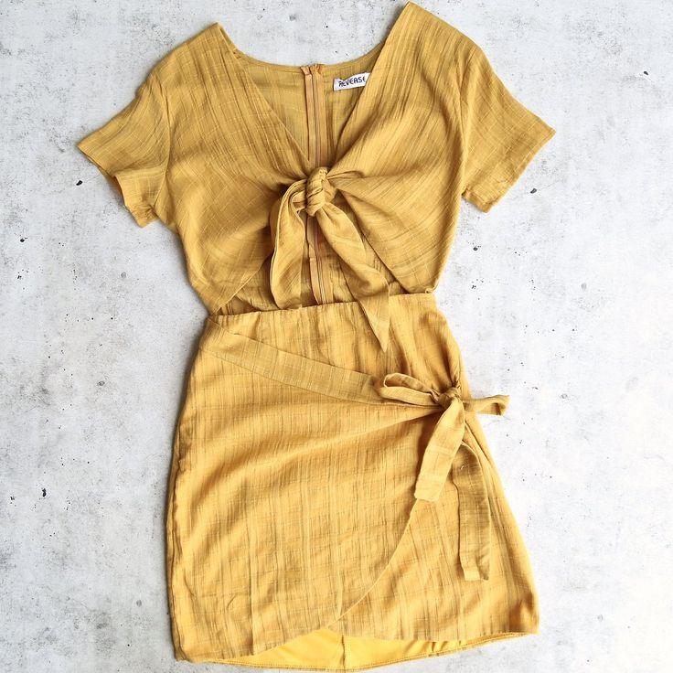 reverse - remember a day dress - mustard