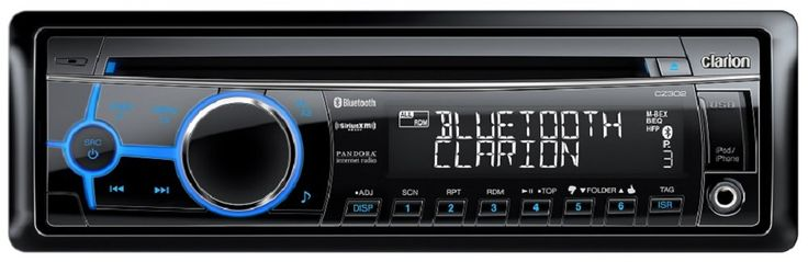 Clarion CZ302 Bluetooth CD/USB/MP3/WMA Receiver. Built-In Parrot Bluetooth for HFP/A2DP. Pandora Internet Radio Control via iPhone USB. Made for iPod and iPhone. Sirius XM-Ready. Front AUX Input.