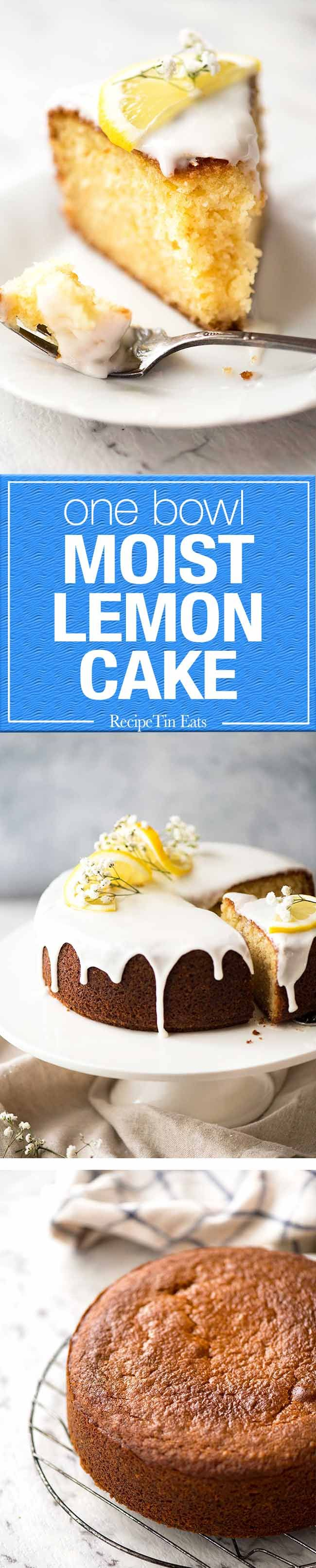 A delightful, simple Lemon Cake for afternoon tea. You'll love the bright lemon flavour, how moist it is and how it requires just ONE BOWL and a whisk!