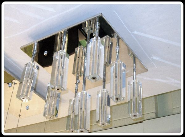 17 Best images about Unit refurb – Close to Ceiling Crystal Chandelier