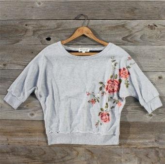 roses sweatshirt!