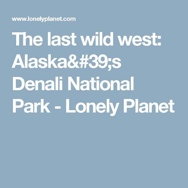 The last wild west: Alaska's Denali National Park - Lonely Planet