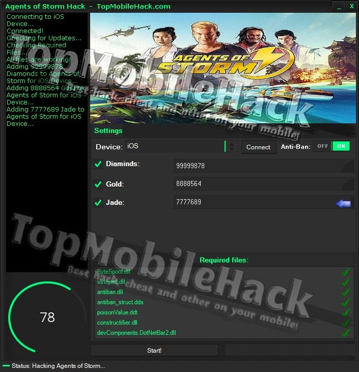 Agents of Storm Hack Cheat Tricher