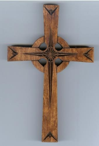 Celtic Cross (chip carved from basswood)  -  sawdustconnection.com