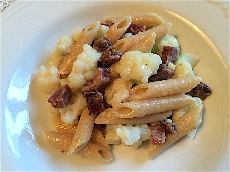 Recept pasta met bloemkool en worst | Onno Kleyn