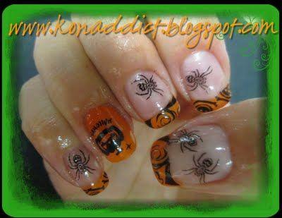 KONADDICT:Konad Nail Art Addict...KONAD TUTORIALS: Halloween Happy Nails!