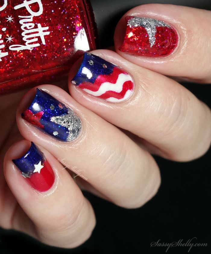 45 best nails images on pinterest belle nails beauty for 4th of july nail art decoration flag